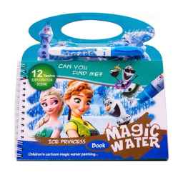 Kids Magic Water Reusable Drawing Pad Doodle Book with Pen - FROZEN