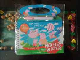 Kids Magic Water Reusable Drawing Pad Doodle Book with Pen - PEPPA PIG