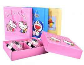 Stainless Steel Bowl Set with Spoon and Chopsticks For Kids - HELLO KITTY