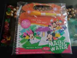 Kids Magic Water Reusable Drawing Pad Doodle Book with Pen - MICKEY MOUSE