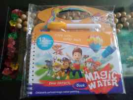 Kids Magic Water Reusable Drawing Pad Doodle Book with Pen - PAW PATROL