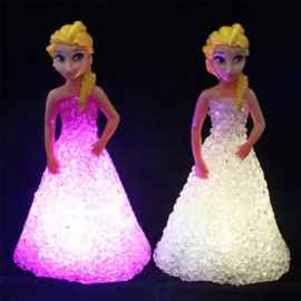 Princess LED Colorful Night Lamp For Kids - 1 Pc