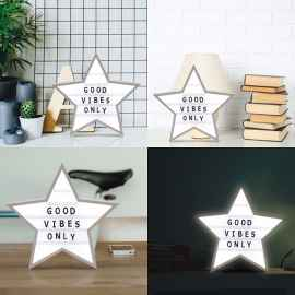Star Shaped Cinematic Light Box with Letters, Numbers and Symbols