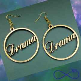 Trending High Quality 2 Inches MDF Customized Ear rings for Girls Double side plated