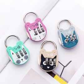 Cute Cat Print Suitcase Padlock