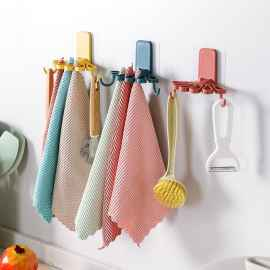 Flower Shape Napkin multipurpose hanger(Random Colour)