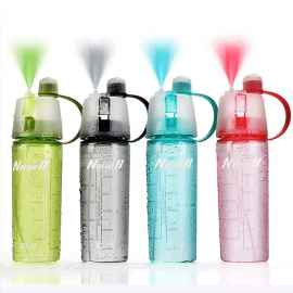 Spray water bottle for sports