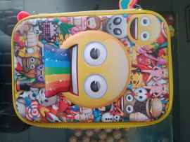 Cartoon Print Hardtop Utility Pouch for kids and adults - SMILEY