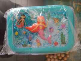 3D Embossed Water Hardtop Utility Pouch for kids and adults - MERMAID