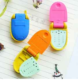 6 Pcs Set Stylish Mobile Phone, Pistol, 6 Alphabets type erasers