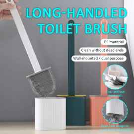 Silicone Flex Toilet Brush With Holder - QUALITY A