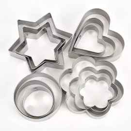 12Pcs/Set Biscuit Mould Stainless Steel Cookie Cutters