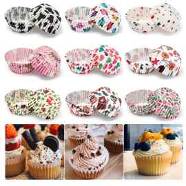 1000 Pcs Printed Cake Paper Cups Random Prints - MEDIUM