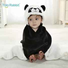 BABY BLANKETS SOFT FUR HOODED CARTOON BATH CLOAK TOWEL WRAP NEWBORN BEDDING WHITE
