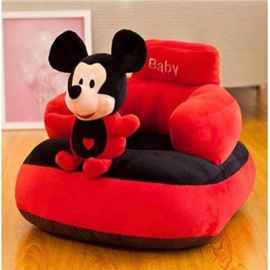 BABY SOFA SEAT MICKEY MOUSE BLACK AND RED