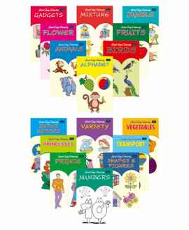 COPY COLOURING BOOKS PACK OF 16 ENGLISH