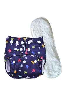 PREMIUM QUALITY PRINTED REUSABLE CLOTHS DIAPER WITH INSERTS OF 4 LAYERS RANDOM PRINT
