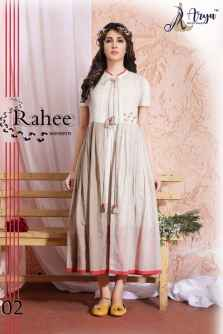 RAHEE WESTERN KURTI WHITE COLOUR BASE