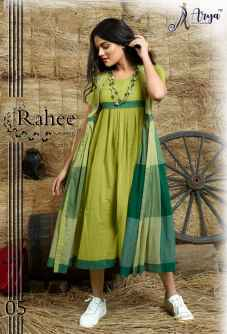 RAHEE WESTERN KURTI WITH GREEN KOTI