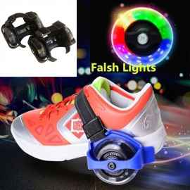 Small Whirlwind Pulley Light Up Roller Shoes Sets Random Colour