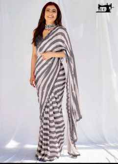 STYLISH DIVA WOMEN SAREE GO FANCY IN THIS GREEN AND WHITE COMBINATION