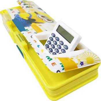 Cartoon Character plastic pencil box with calculator - Minion