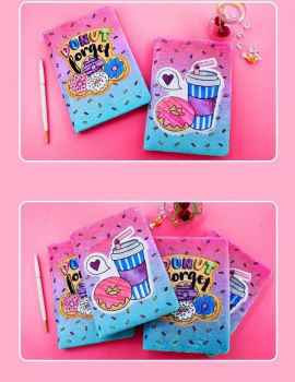 Cute Kawaii Donut notebook for Writing, Notes, Journaling or School