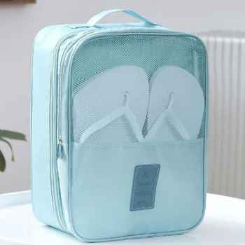 Travelling Shoe pouch-sky blue
