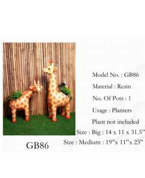 Giraffe design pot planter - Small