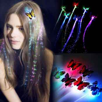 Flashing Butterfly Hair Braid (Pack Of 2)