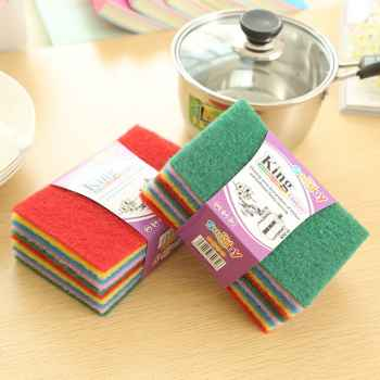 10 pieces colourful scrubber Pad