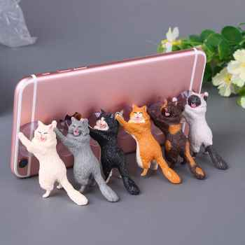 Cute Cat Suction Mobile Stand (Pack of 2 Pcs)