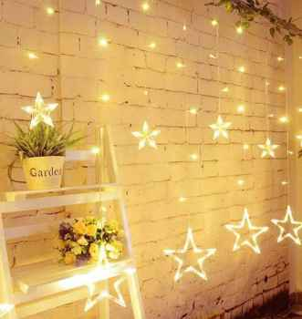 Star Icicle Led Curtain String Light