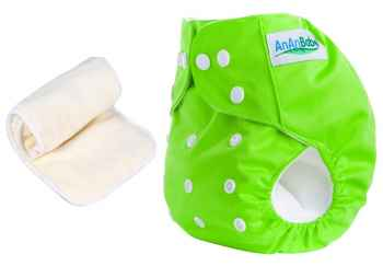 Washable Free Size Baby Cloth Diapers with 4 layers inserts