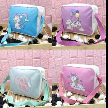 A CUTE UNICORN SLING BAG FOR DAILY USE YOU CAN CARRY THIS ADJUSTABLE ZIPPER SLING BAG