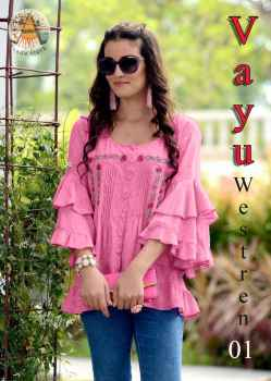 GIRLS INDO WESTERN TOP WITH EMBROIDERY WORK BABY PINK