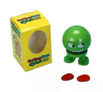 5 PIECES SET JUMPING SMILEY FOR CAR GREEN