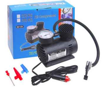 Air Compressor for Car Bike Cycle and Football 12V 300 PSI Tyre Inflator Air Pump