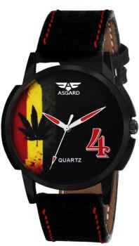 ASGARD Black Dial Watch For Men and Boys 111