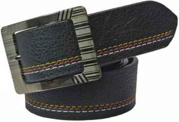 Casual Black Synthetic Belt for men