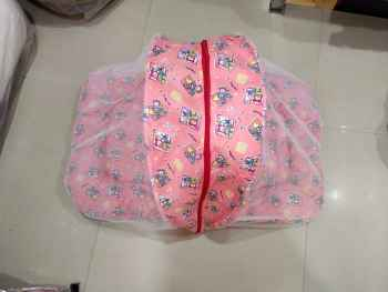 COTTON PRINTED BABY NET BEDDING BABY PINK