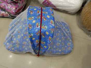 COTTON PRINTED BABY NET BEDDING BLUE