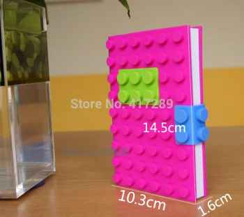 Creative Stationery Notebook Stylish Candy Color Silicone 3D Cover Diary
