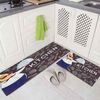 DIGITAL COMBO MAT AND RUNNER CHEF PRINT FOR KITCHEN