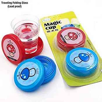 FOLDING CUP COLLAPSIBLE MAGIC CUP PORTABLE COMBO OF 2
