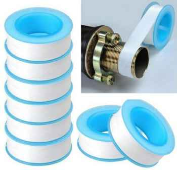 Half inch 10 mtr Plastic 10 Pieces Roll Plumbing Teflon Tape for Water Pipe Sealing