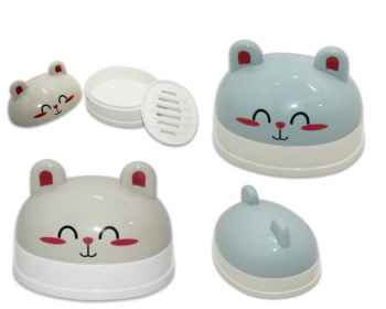 Kitty Cartoon Soap Case Random Colour Set of 2