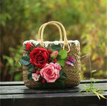 NATURAL STRAW HANDMADE LADIES HANDBAGS STRONG BEAUTIFUL AND ORGANIC