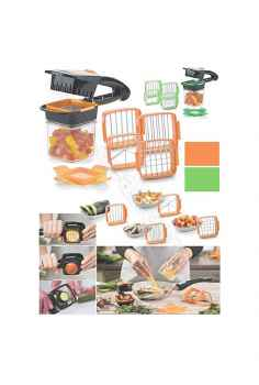 New 5 in 1 Multifunction Vegetable Cutter Manual Vegetable Quick Dicer Non Skid Base