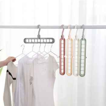 New Brief Home Multi Port Space Saver Saving Wonder Hanger Clothes Closet Organize Hook 4 SET